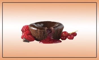 Petit Gateau Chocolate e Framboesa, 24x90g