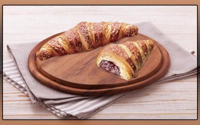 Croissant Recheado de Framboesa, 60x85g